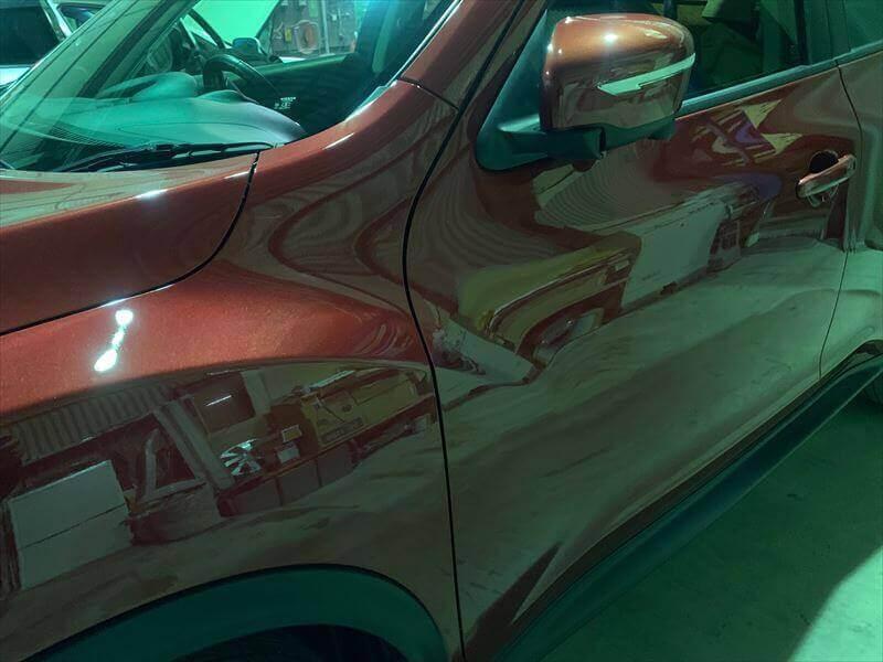 日産デュークの板金塗装 福岡市城南区2 画像1